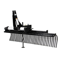 Triple S 3 Point Landscape Rake Compact Tractor Attachment