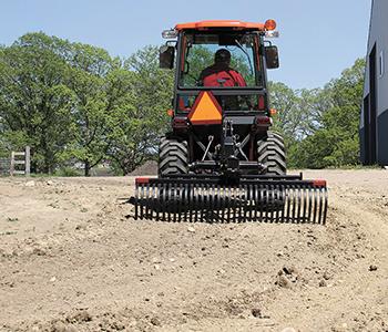 Triple S 3 Point Landscape Rake Compact Tractor Attachment