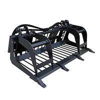 Triple S Power Grapple Rod Bucket Mini Skid Steer Attachment