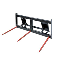 Triple S Power Bale Forks Skid Steer Attachment