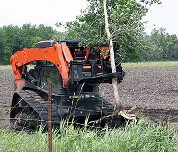 Triple S Power Tree And Post Puller Skid Steer Attachment