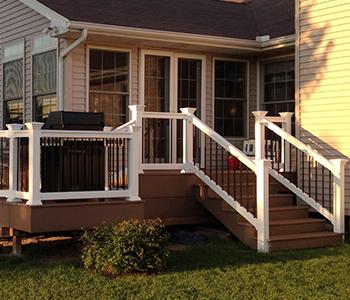 36 Quot Premium Durables Vinyl Porch And Deck Railing Stair